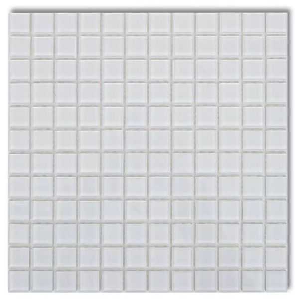 Mozaïektegels glas wit 20 stuks (1,8 m2)