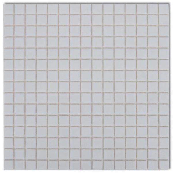 Mozaïektegels glas wit 40 stuks (4,28 m2)