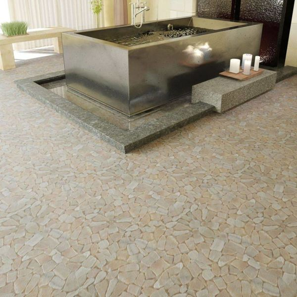 Stenen mozaïek tegels goud marmer 0,9 m2
