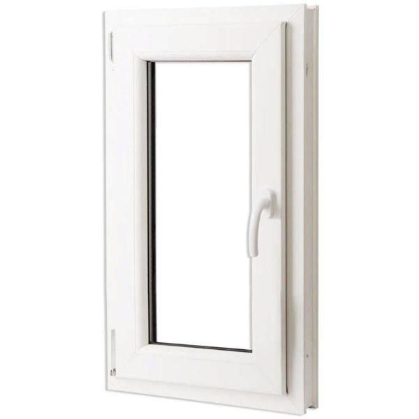 PVC raam met driedubbele beglazing en handvat rechts 600 x 1000 mm