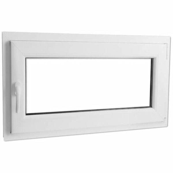 PVC raam met dubbel glas en handvat links 1000 x 600 mm