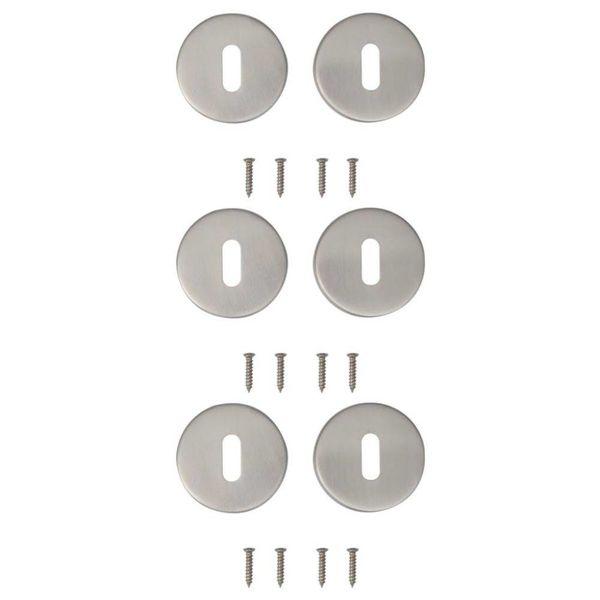 Deur sleutelrozet RVS (3 sets)