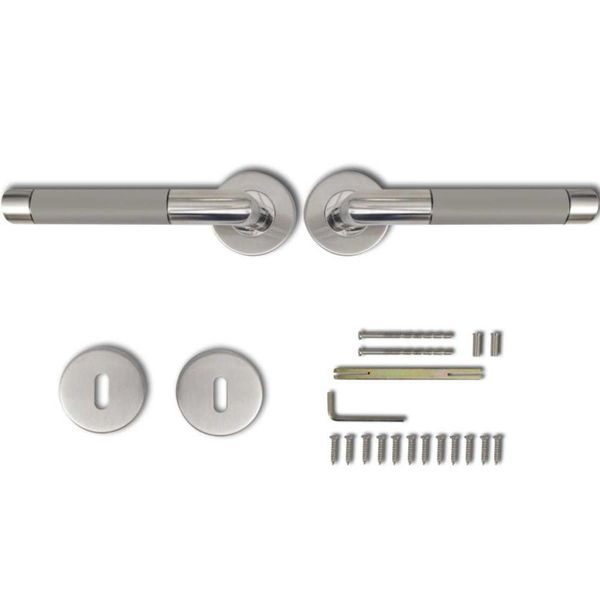 Deurklink set RVS alternatief (sleutelrozet)