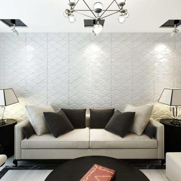 24 x 3D wandpanelen (boog motief) 0,5 m x 0,5 m - 6 m²