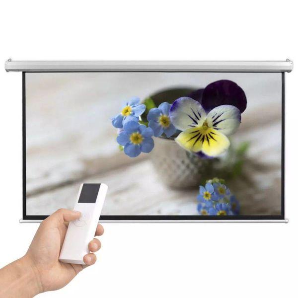 Projectiescherm met afstandsbediening elektrisch 200x113 cm 16:9