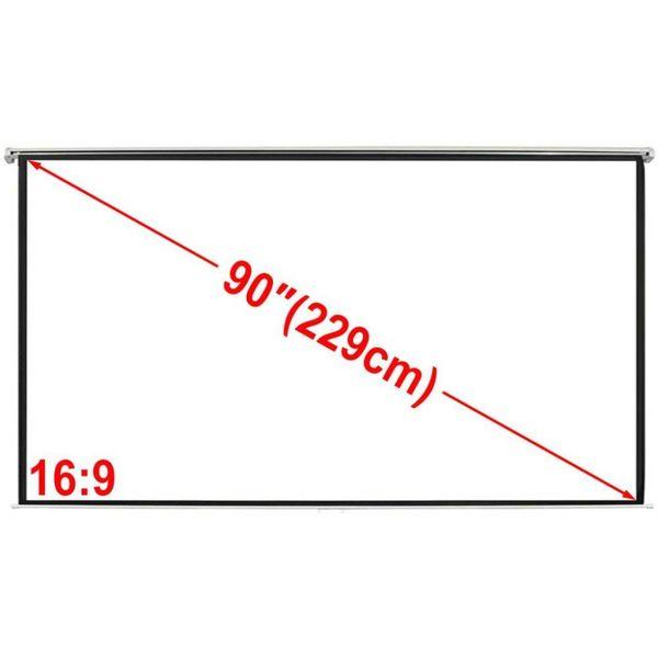 Projectiescherm wit 200 x 113 cm (16:9 formaat)