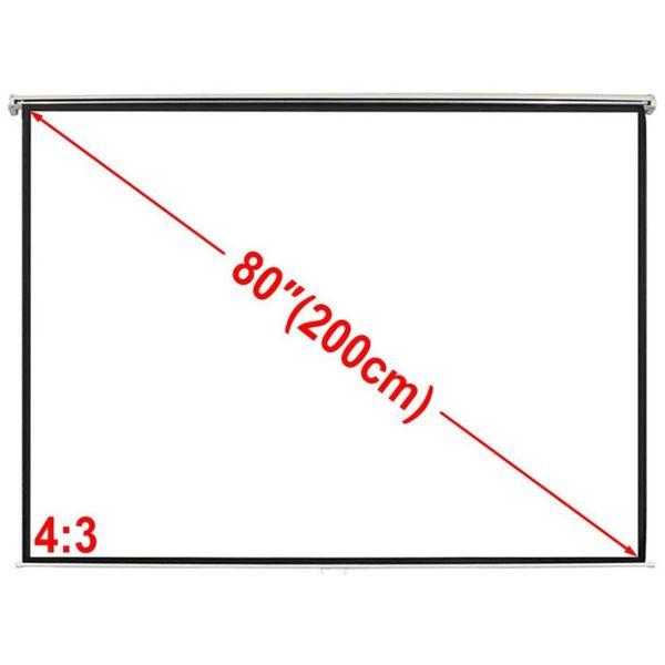 Projectiescherm wit 160 x 123 cm (4:3 formaat)