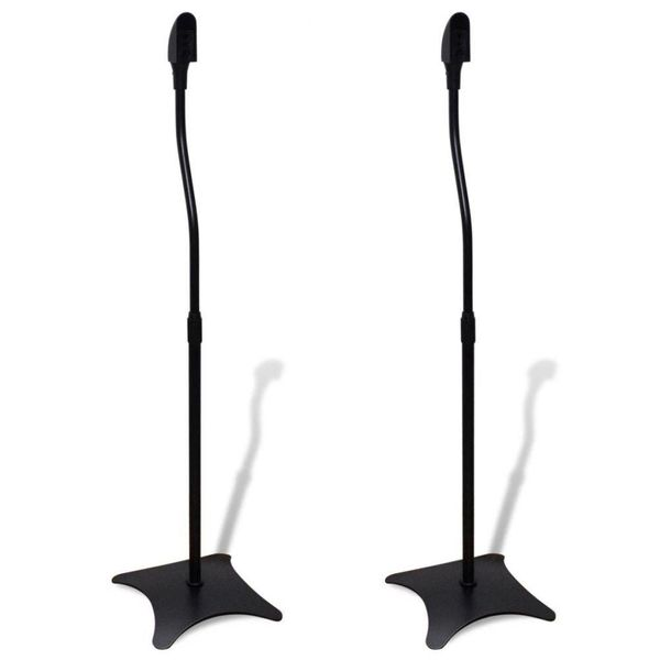 Universele speakerstandaard zwart 2 st