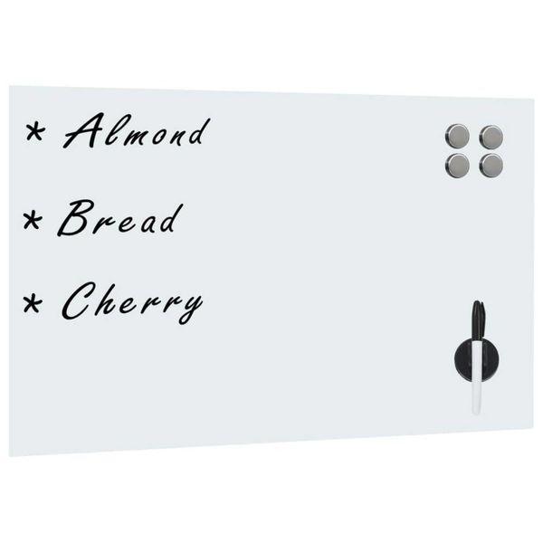 Whiteboard voor aan de wand magnetisch 60x40 cm glas