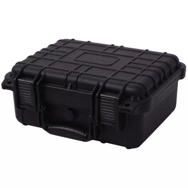 Beschermende materiaalkoffer 35x29,5x15 cm zwart