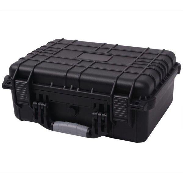 Beschermende materiaalkoffer 40,6x33x17,4 cm zwart