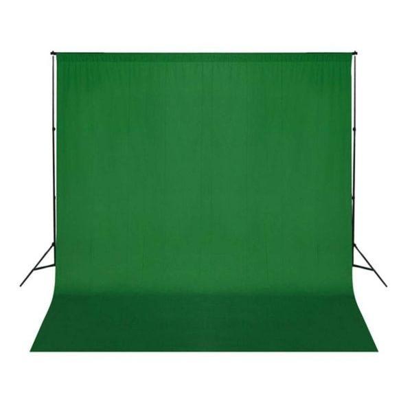 Achtergrond chromakey 300x300 cm katoen groen