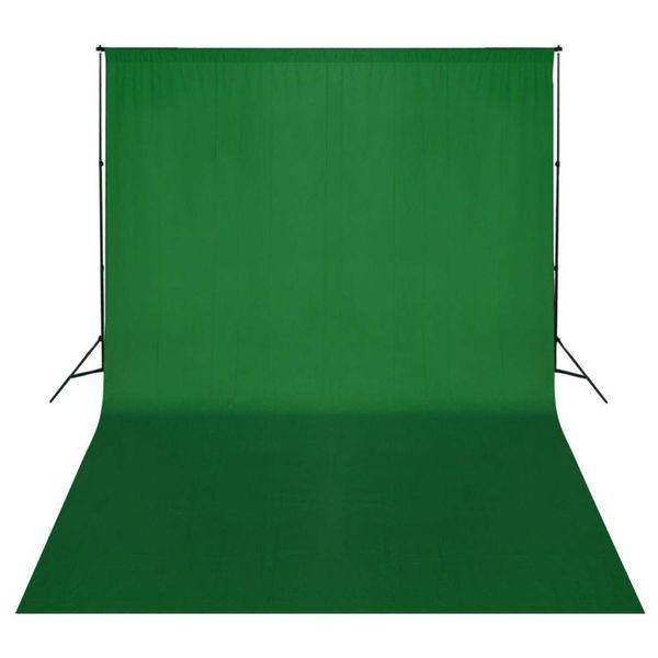 Achtergrondondersteuningssysteem 500x300 cm groen
