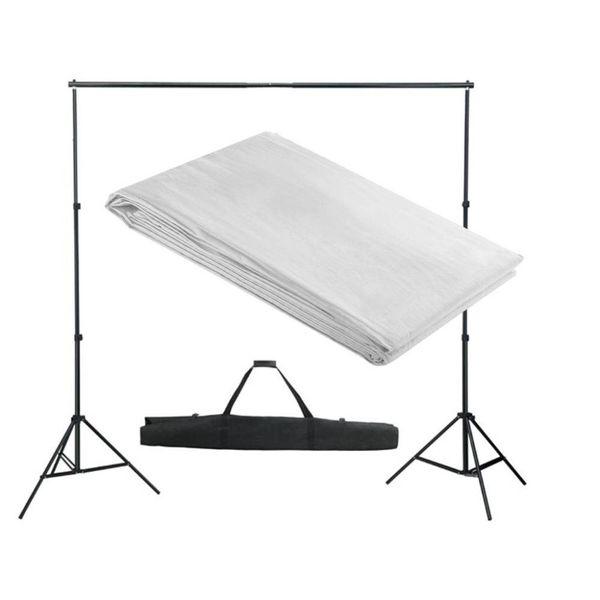 Achtergrondondersteuningssysteem 300x300 cm wit
