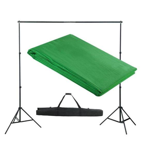 Achtergrondondersteuningssysteem 300x300 cm groen