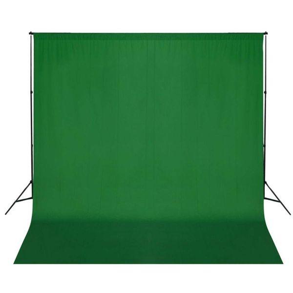 Achtergrondondersteuningssysteem 600x300 cm groen