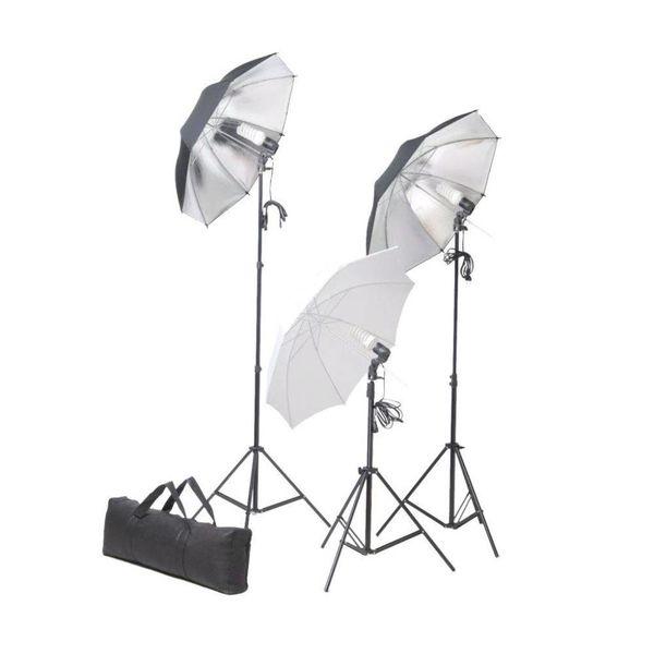 Studiolampenset 24 Watt inclusief statieven en paraplu's