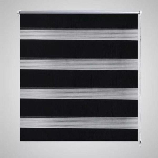 Duo rolgordijn 140 x 175 cm zwart