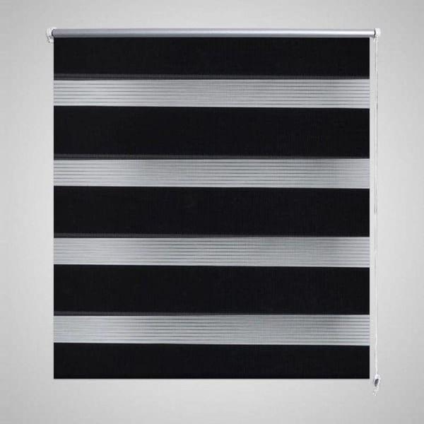 Duo rolgordijn 100 x 175 cm zwart