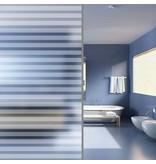 vidaXL Privacyfolie matte strepen zelfklevend 0,9x10 m