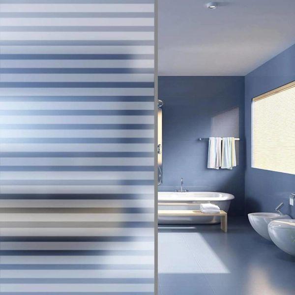 Privacyfolie matte strepen zelfklevend 0,9x5 m