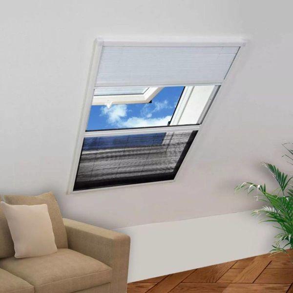 Raamhor voor dakramen met zonnescherm plissé 160x110 cm