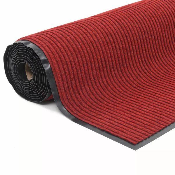 Deurmat anti-slip met vinyl onderkant 1,2x10 m rood