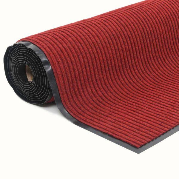 Deurmat anti-slip met vinyl onderkant 1,2x5 m rood