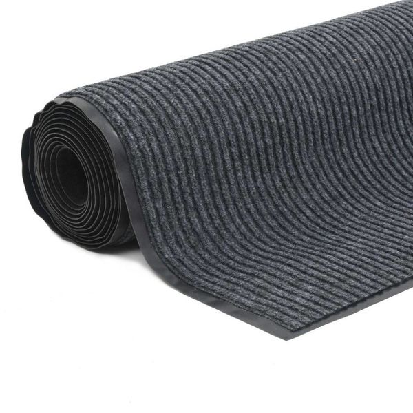 Deurmat anti-slip met vinyl onderkant 1,2x10 m grijs