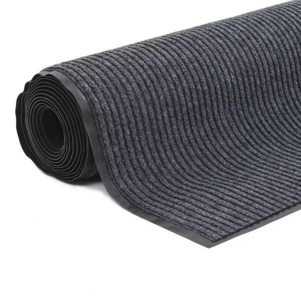 Deurmat anti-slip met vinyl onderkant 1,2x5 m grijs