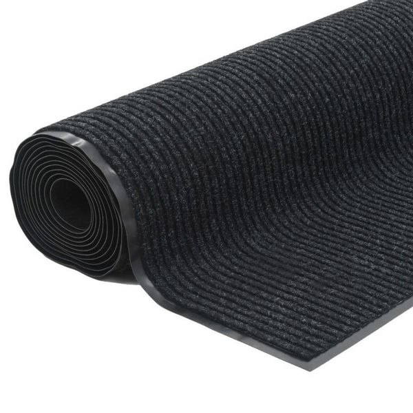 Deurmat anti-slip met vinyl onderkant 1,2x10 m zwart