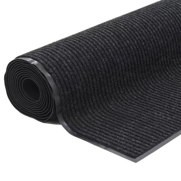 Deurmat anti-slip met vinyl onderkant 1,2x5 m zwart