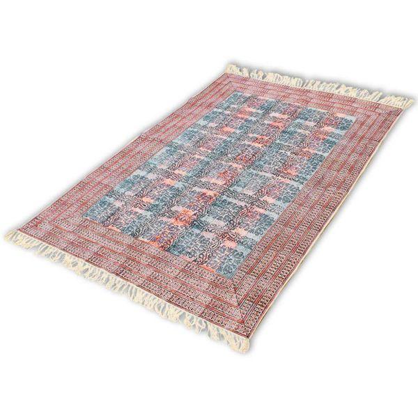 Katoenen vloerkleed 180x270 cm rood