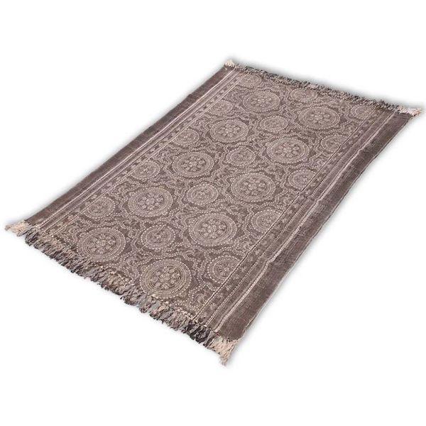 Katoenen tapijt 180x120 cm donker