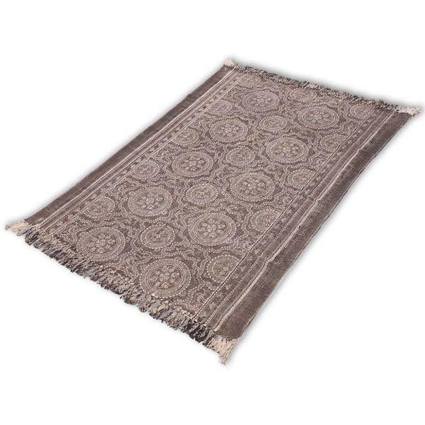 Katoenen tapijt 180x270 cm donker