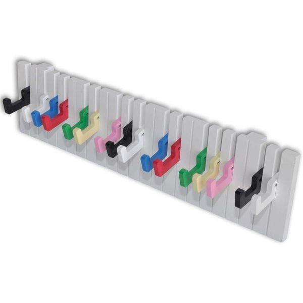 Kapstok met keyboard ontwerp (16 kleurrijke haakjes)