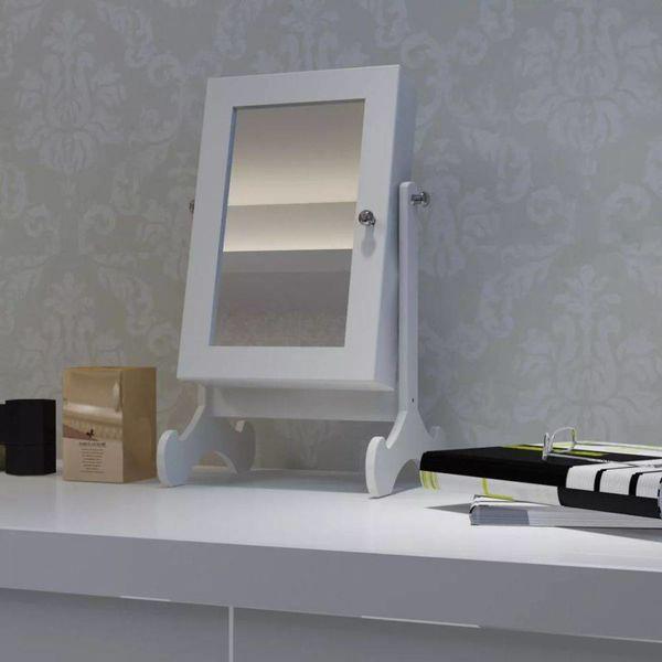 Sieradenkastje met spiegel (tafelmodel)