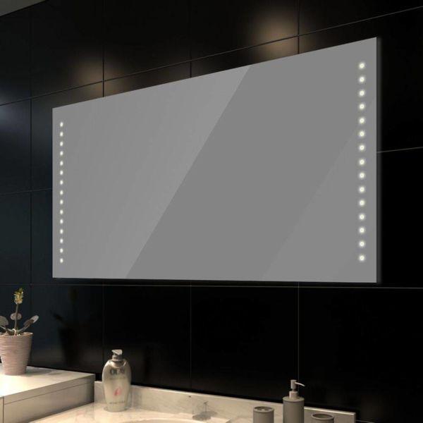 Badkamerspiegel met LEDs 100x60 cm
