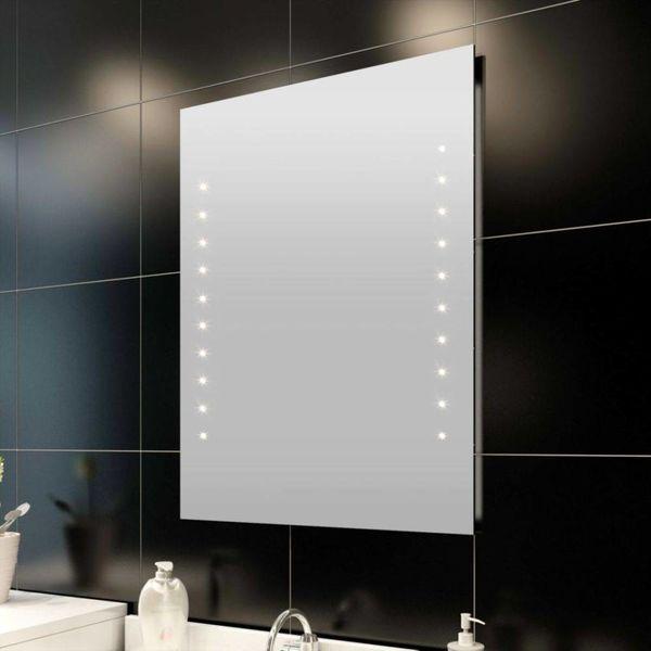 Badkamerspiegel met LEDs 60x80 cm