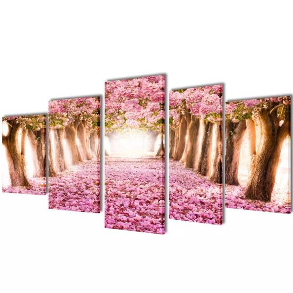 Canvasdoeken kersenbloesem 200 x 100 cm