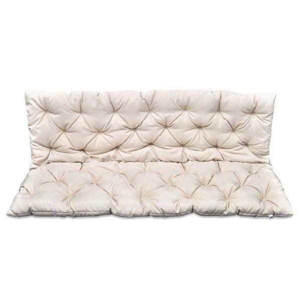 Kussen voor schommelstoel crème 150 cm