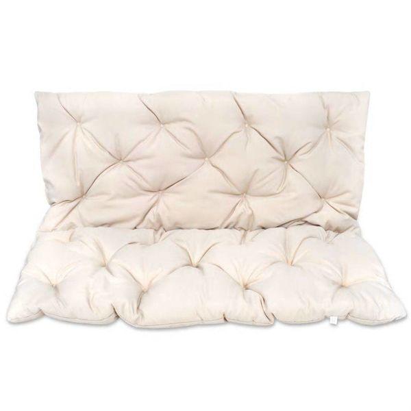 Kussen voor schommelstoel 120 cm crème