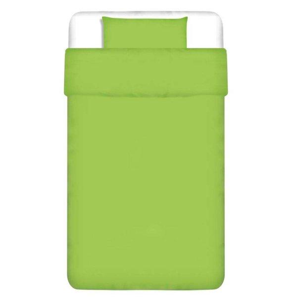 dekbedovertrek tweedelig katoen groen 135 x 200/80 x 80 cm