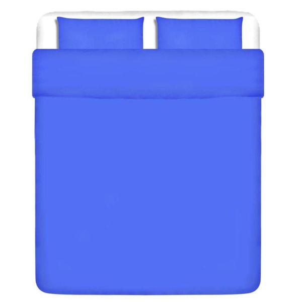 Dekbedovertrek driedelig katoen blauw 200 x 220/80 x 80 cm