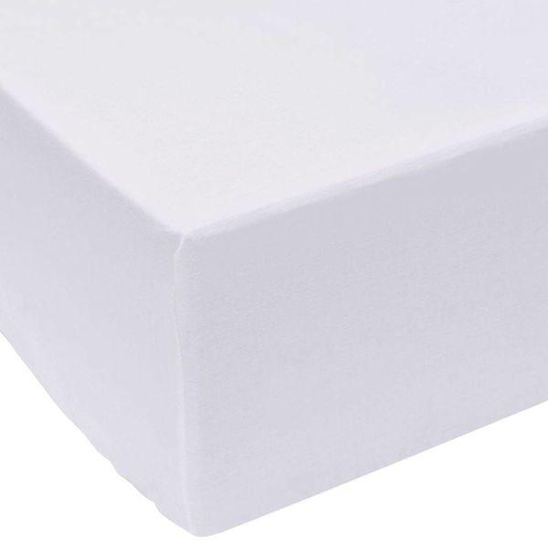 Hoeslaken 140x200 cm wit katoen 2 st