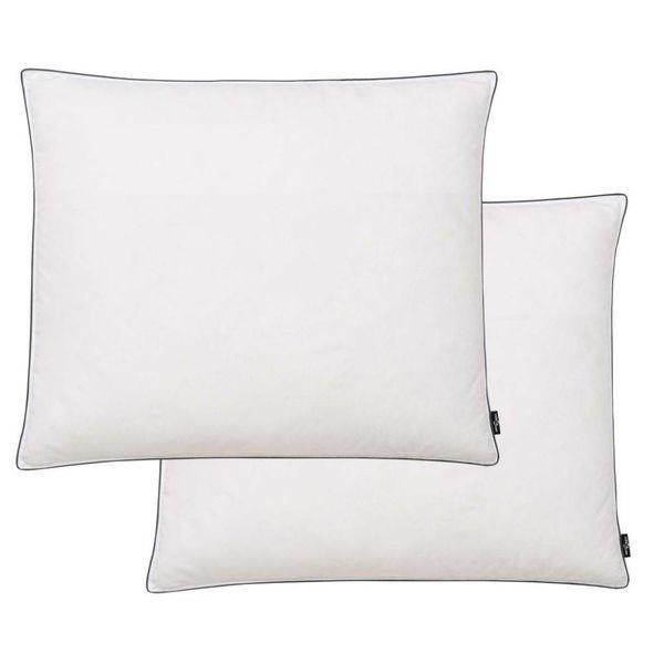 Kussens licht 70x60 cm dons-/verenvulling wit 2 st