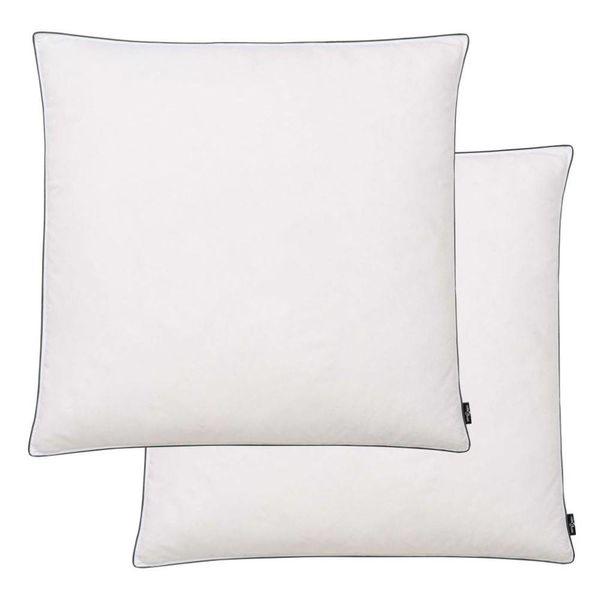 Kussens licht 80x80 cm dons-/verenvulling wit 2 st