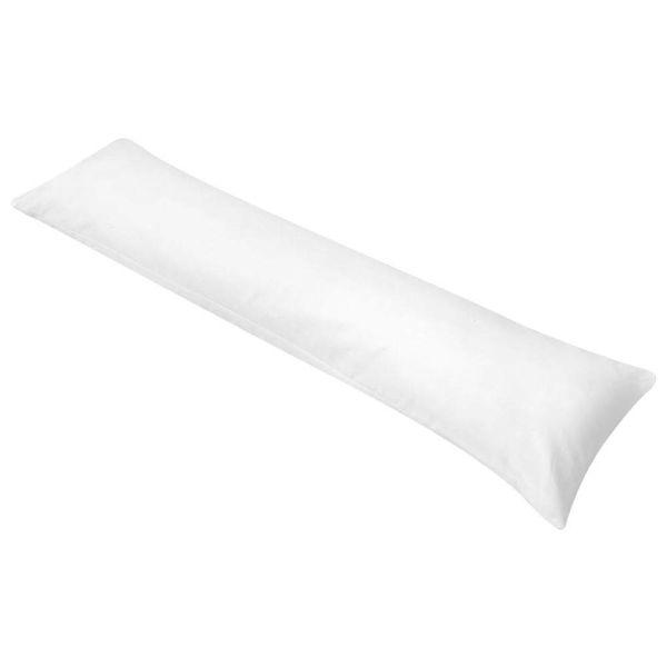 Zijslaapkussen 40 x 145 cm wit
