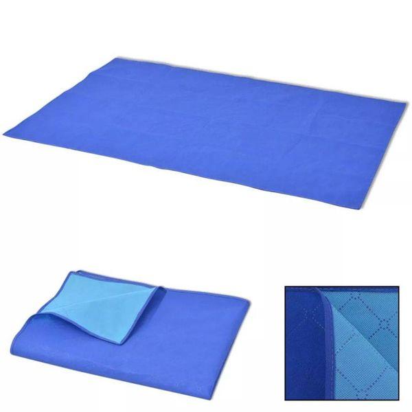 Picknickkleed 150x200 cm blauw en lichtblauw