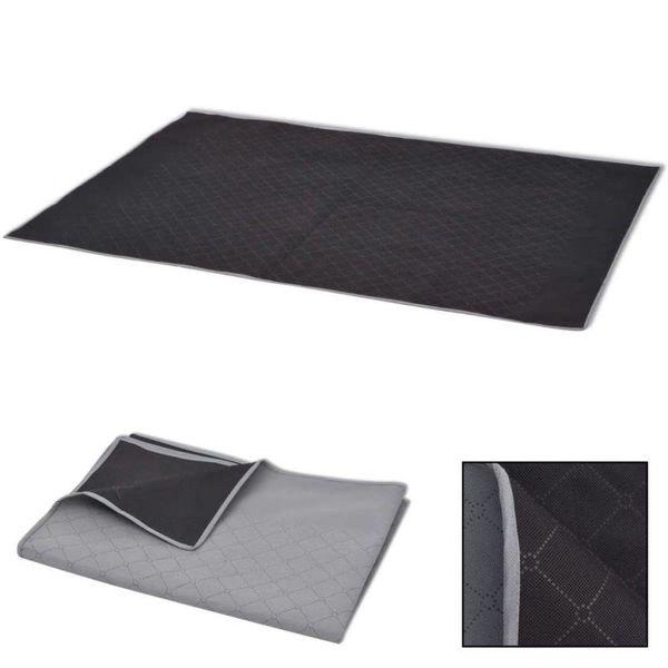 Picknickkleed 150x200 cm grijs en zwart